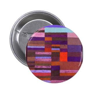 Altimetry individualizado de rayas de Paul Klee Pin Redondo De 2 Pulgadas