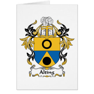 Alting Family Crest Card