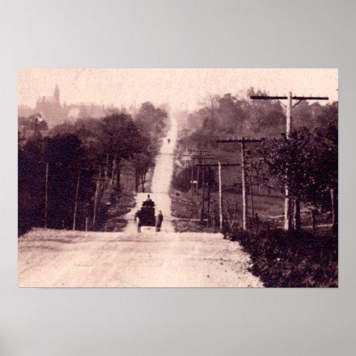 Altiplanicie, camino del condado de Indiana circa  Poster