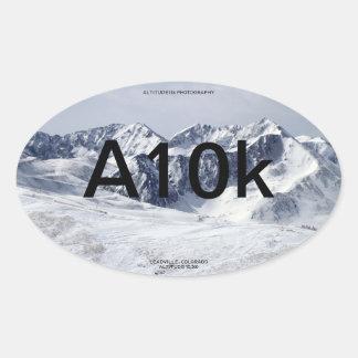 Altitude10k Mt Arkansas Oval Sticker