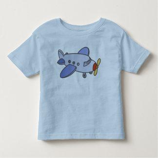 Alto aeroplano que vuela playera de bebé