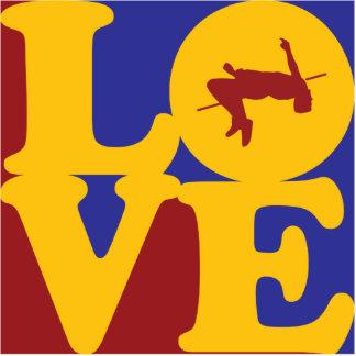 Alto amor de salto esculturas fotograficas