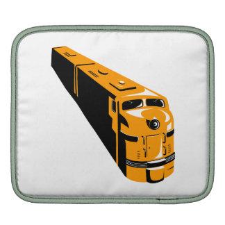 Alto ángulo del tren diesel retro mangas de iPad