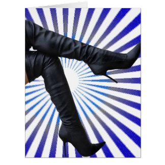 Alto arte de la bota del muslo (estrella azul esta felicitación