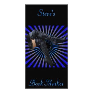 Alto arte de la bota del muslo (estrella azul esta tarjetas fotograficas personalizadas