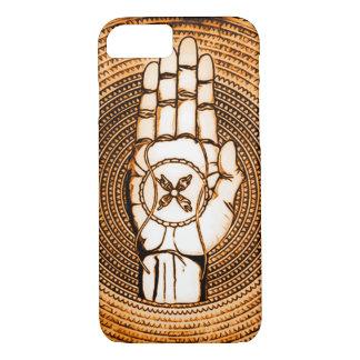 Alto arte de la mano del ángel de guarda funda iPhone 7