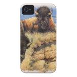 Alto bisonte de los llanos iPhone 4 Case-Mate coberturas