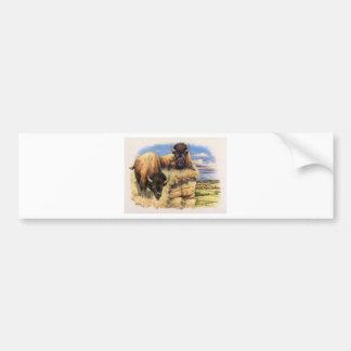 Alto bisonte de los llanos pegatina para auto