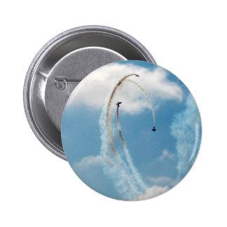 Alto botón del Pin de la serie 2 del cielo azul de