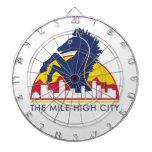 Alto caballo del azul de la ciudad de la milla tabla dardos