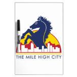 Alto caballo del azul de la ciudad de la milla pizarras blancas de calidad