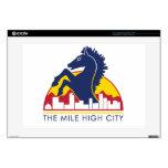Alto caballo del azul de la ciudad de la milla calcomanías para 38,1cm portátiles