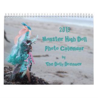 Alto calendario 2015 de la foto de la muñeca del