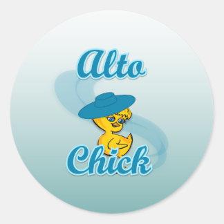Alto Chick #3 Classic Round Sticker
