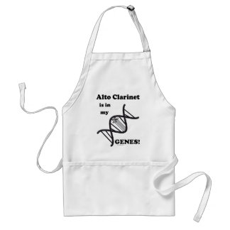 Alto Clarinet Is In My Genes! Adult Apron