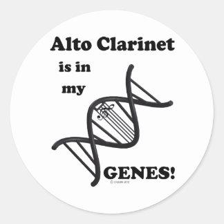 Alto Clarinet Is In My Genes! Classic Round Sticker