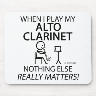 Alto Clarinet Nothng Else Matters Mouse Pad