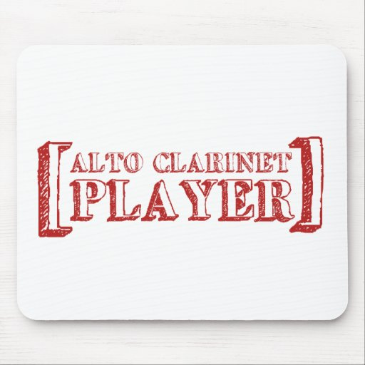 Alto Clarinet  Player Mouse Pad