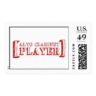Alto Clarinet  Player Postage Stamp