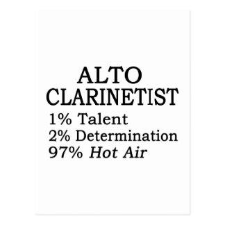 Alto Clarinetist Hot Air Postcard