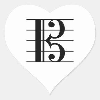 Alto Clef Heart Sticker