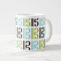 Alto Clef Pattern Large Coffee Mug