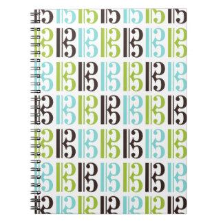 Alto Clef Pattern Spiral Note Book