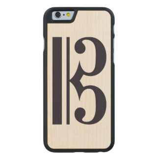 Alto Clef Phone Case Carved® Maple iPhone 6 Slim Case