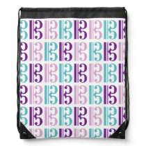 Alto Clef - Purple and Teal Drawstring Bag