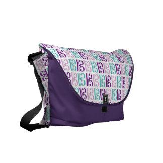 Alto Clef - Purple and Teal Messenger Bag