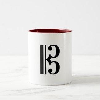 alto-clef Two-Tone coffee mug