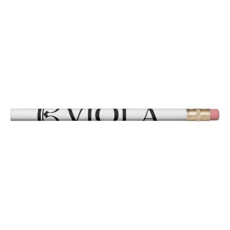 Alto Clef & Viola Pencil