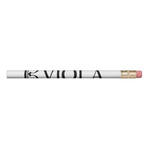 Alto Clef  Viola Pencil