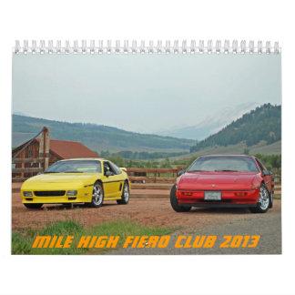 Alto club 2013 de Fiero de la milla Calendarios De Pared