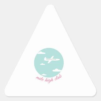 Alto club de la milla pegatina triangular
