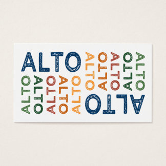 Alto Colorful Business Card