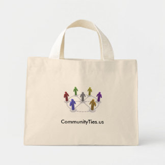 Alto commties_logo del Res, CommunityTies.us Bolsa De Tela Pequeña