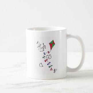 Alto como cometa taza de café