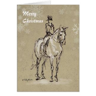 Alto de las Felices Navidad en la tarjeta de X