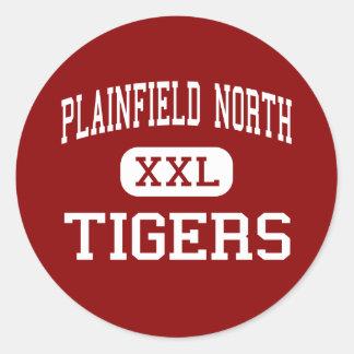 Alto del norte de Plainfield - tigres - - Pegatina Redonda