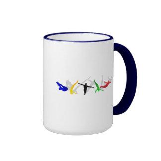 Alto deporte de la plataforma del trampolín del sa taza a dos colores
