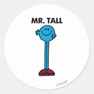 Alto derecho de Sr. Tall el   Pegatina Redonda
