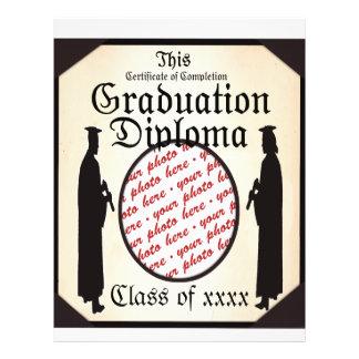 Alto derecho - marco de la foto del diploma de la flyer a todo color