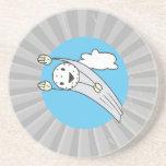 alto dibujo animado de la pelota de golf del vuelo posavasos personalizados