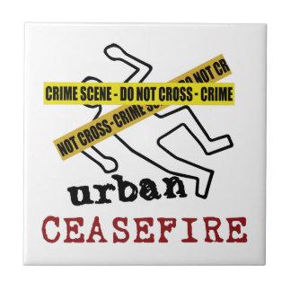 Alto el fuego urbano azulejo cuadrado pequeño