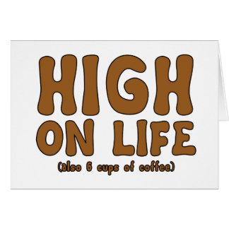 Alto el la vida (también 6 tazas del café) tarjeta de felicitación