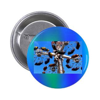 Alto en el botón del cielo (quepa) pin redondo de 2 pulgadas