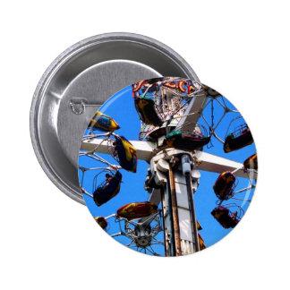 Alto en el botón del cielo (terraplén) pin redondo de 2 pulgadas