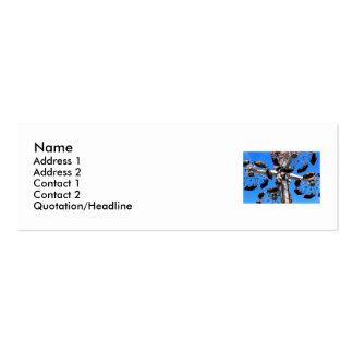 Alto en la tarjeta del perfil del cielo plantillas de tarjetas personales