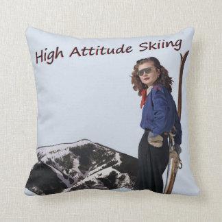 Alto esquí de la actitud cojín
